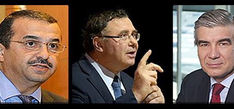 عرقاب يستقبل مسؤولي المجمعين الفرنسي توتال والاسباني ناتوغري