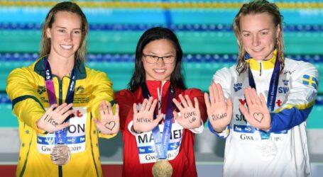 مونديال السباحة 2019, رسالة تضامن مع اليابانية إيكي: لا تستسلمي