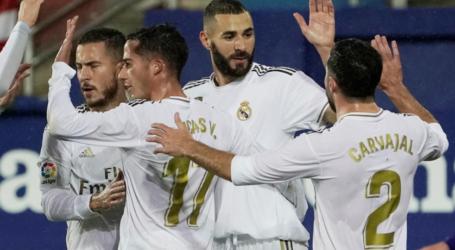 ريال مدريد يسحق إيبار ويتقاسم القمة مع برشلونة