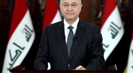 الرئيس العراقي يتحدى حلفاء إيران في البرلمان ويهدد بالاستقالة