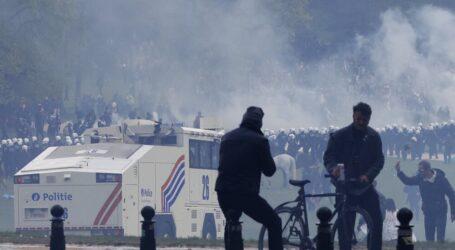 عصيان مدني في بروكسل ضد قيود كورونا