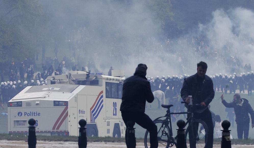 مظاهرات_في_بروكسل
