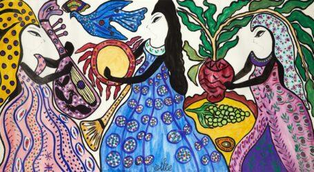 إشادة جامعية لأعمال الفنانة التشكيلية باية